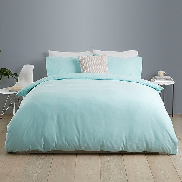 Washed Cotton Quilt Cover Set - Aqua | Target Australia - $59 for ... : quilt cover set australia - Adamdwight.com