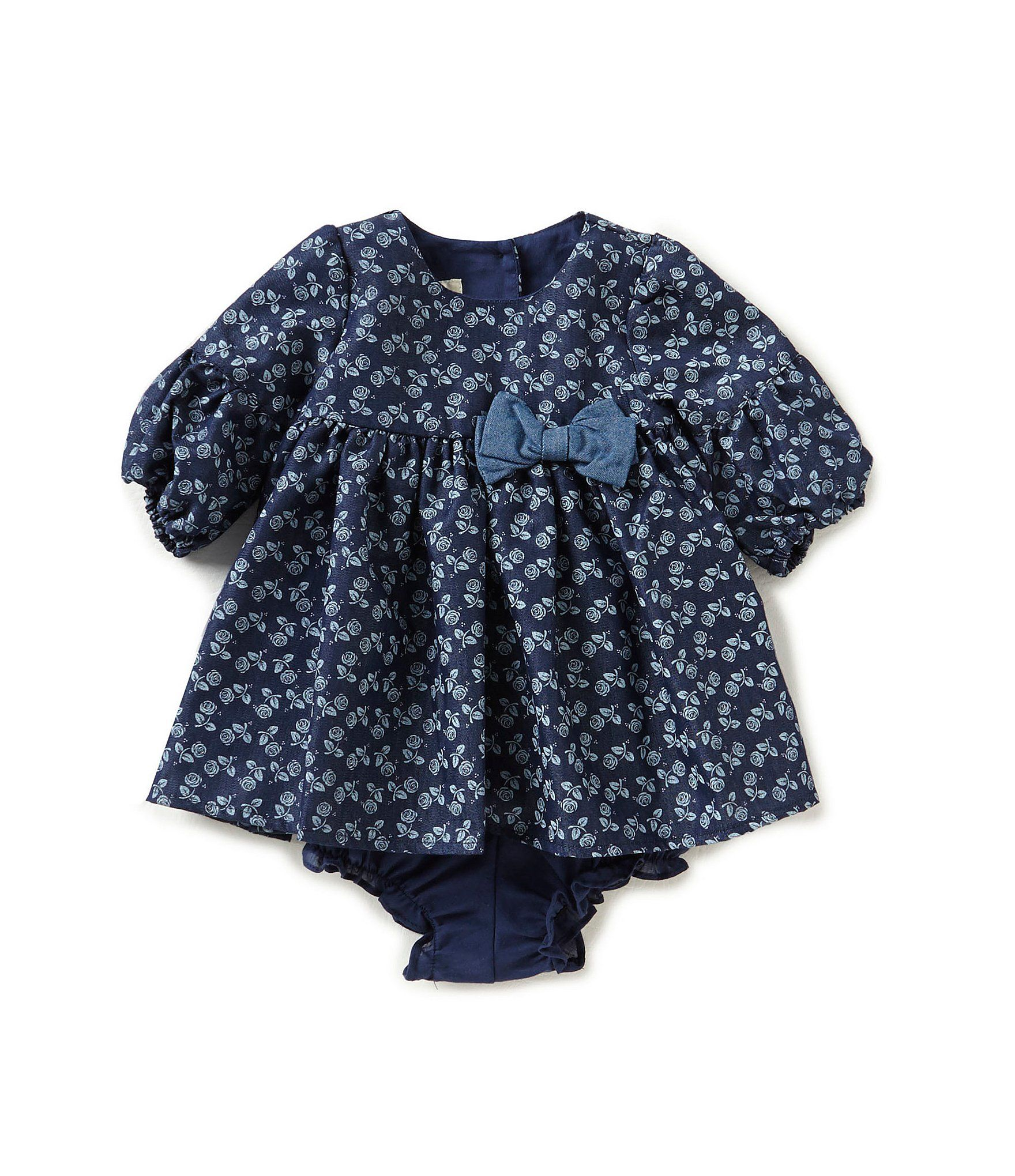 Laura Ashley London Baby Girls Newborn24 Months Printed Bow Dress