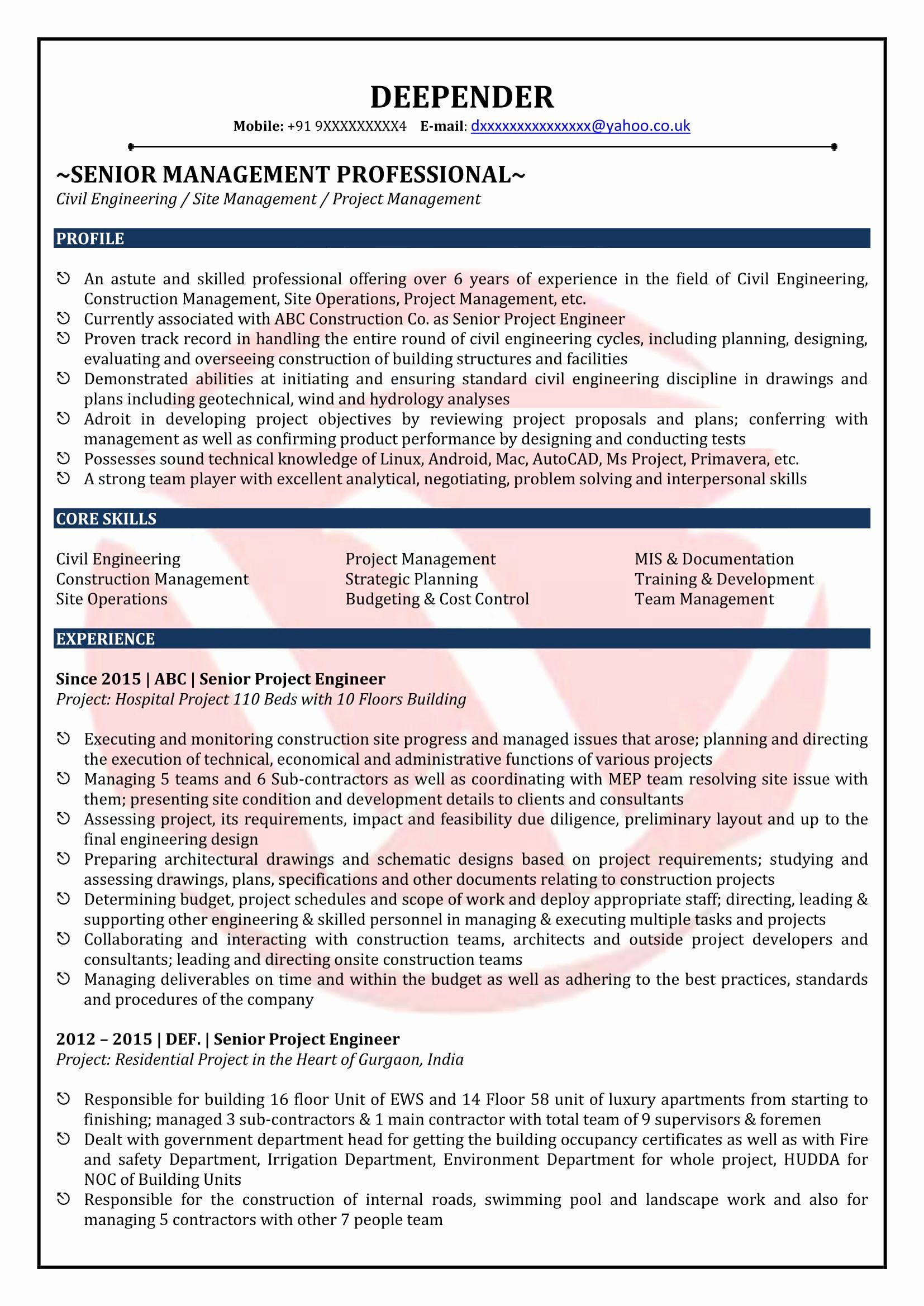 Civil Engineer Intern Resume Luxury Civil Engineer Sample Resumes Download Resume Format Job Resume Examples Civil Engineer Resume Resume Examples