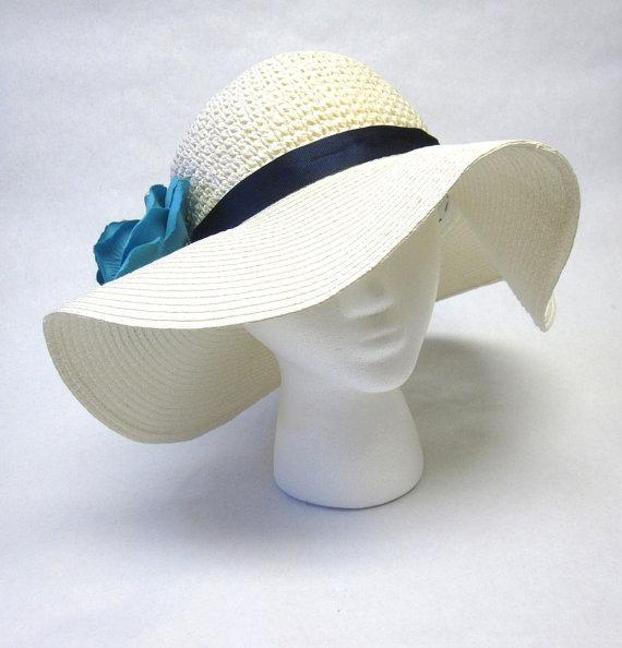 Disco blanco de ala ancha sombrero boda por sweetie2sweetie en Etsy