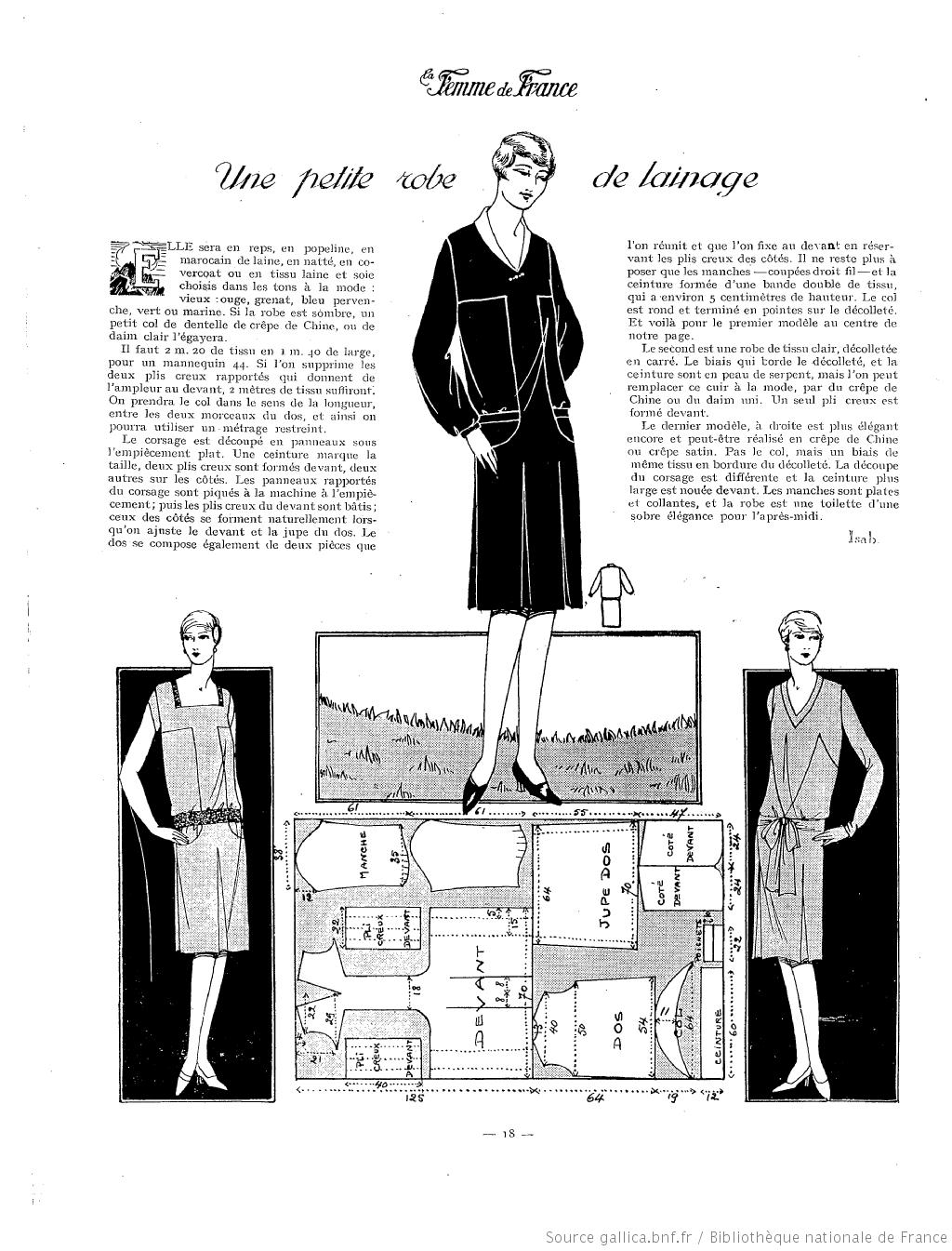 La Femme de France 1927 | Couture vintage | Pinterest | Patrones de ...