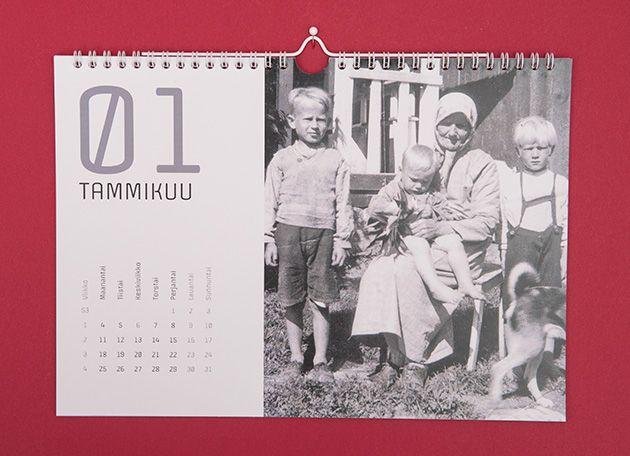 Joululahjaidea: seinäkalenteri vanhoista skannatuista kuvista ilahduttaa saajaansa koko vuoden! http://www.ifolor.fi/inspire_joululahjaidea_saajansa_nakoinen_kalenteri