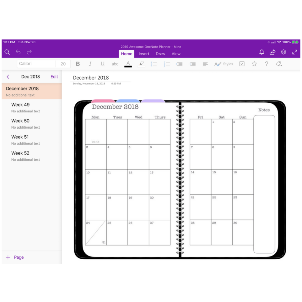Microsoft OneNote Planner Demo – The Awesome Planner