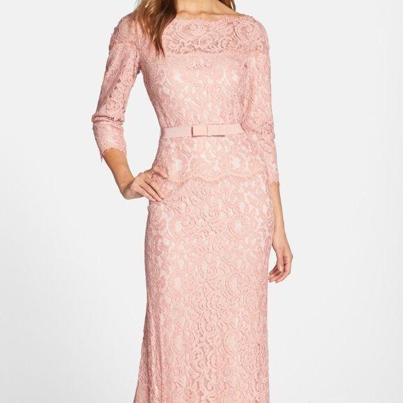 Tadashi shoji-pink opal lace dress Beautiful wedding or special ...