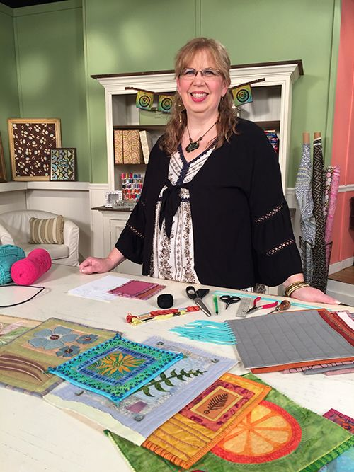 Jane Davila Guest On Quilting Arts Tv Series 2200 On Set With Host