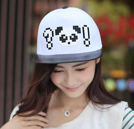 89f41adfe45 Hip hop panda baseball cap for girls snapback caps spring wear