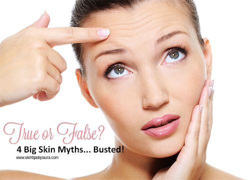 The 4 BIGGEST #Skincare Myths & Misconceptions by skintipsbylaura.com