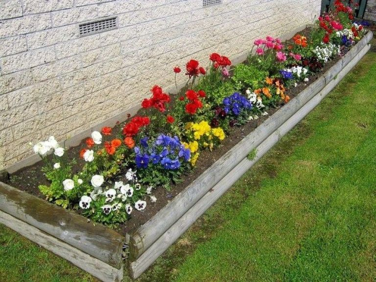 35 Beautiful Flower Beds Design Ideas In Front Of House Magzhouse Garden Flower Beds Small Flower Gardens Flower Garden Plans