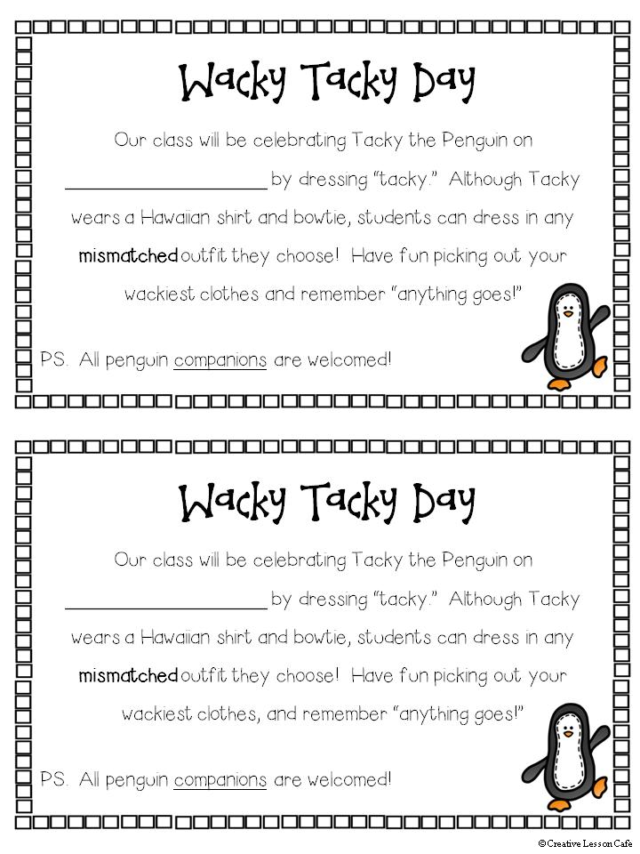 Wacky, Tacky the Penguin Fun! | Penguin activities, Tacky ...