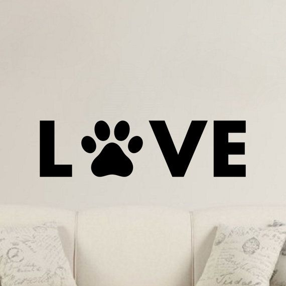love-paw-love-puppy-paw-prints-fur can choose own colour