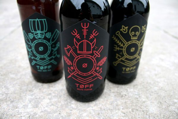 Viking-Inspired Beer Branding - TOFF Stimulates Images of a Nordic Viking (GALLERY)