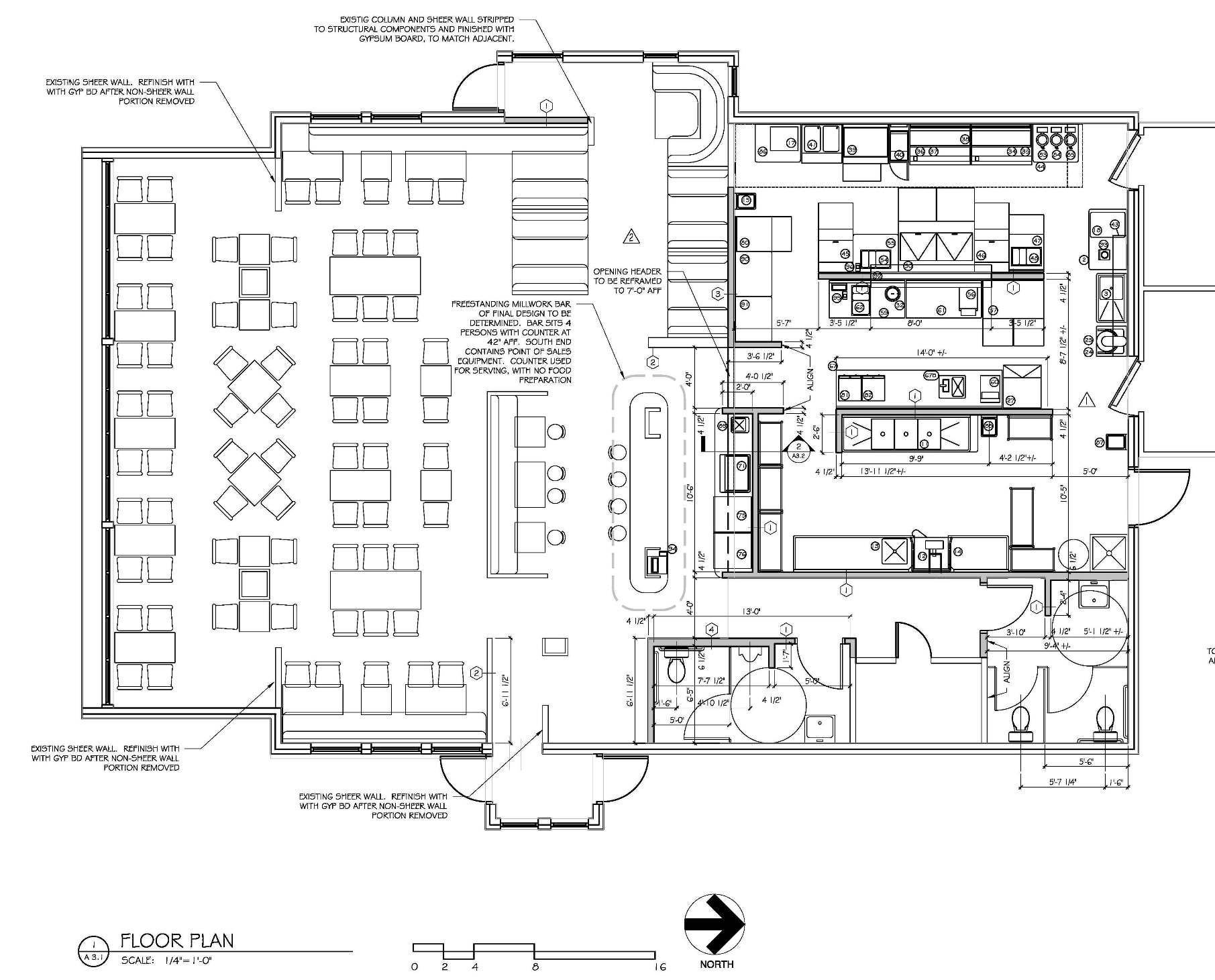 Restaurant Cafe And Bar Floor Plan