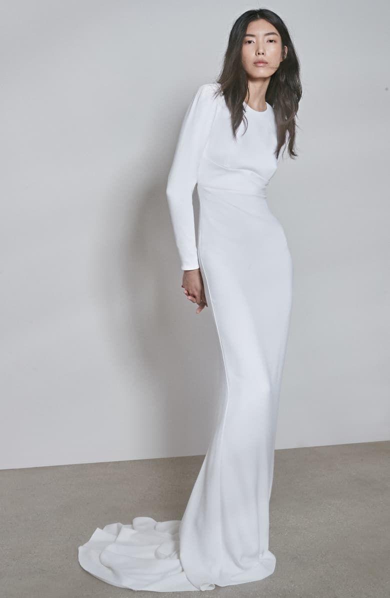 Stella Mccartney F18 Ruby Long Sleeve Cutout Wedding Dress Nordstrom White Long Sleeve Dress Minimalist Wedding Dresses Wedding Dress Long Sleeve [ 1196 x 780 Pixel ]