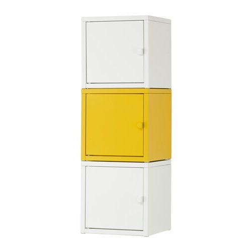 IKEA - LIXHULT, Opbevaringskombination, , Hjælper dig med at holde styr på småting som opladere, nøgler og punge.Hold orden i vigtige papirer, breve og aviser ved at sortere dem på indersiden af skabslågen.
