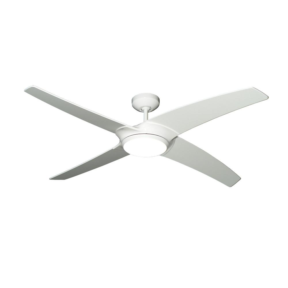 Troposair Starfire 56 In Pure White Ceiling Fan With Led Light 88711 The Home Depot Ceiling Fan With Light Led Ceiling Fan Ceiling Fan Ceiling fan with led light