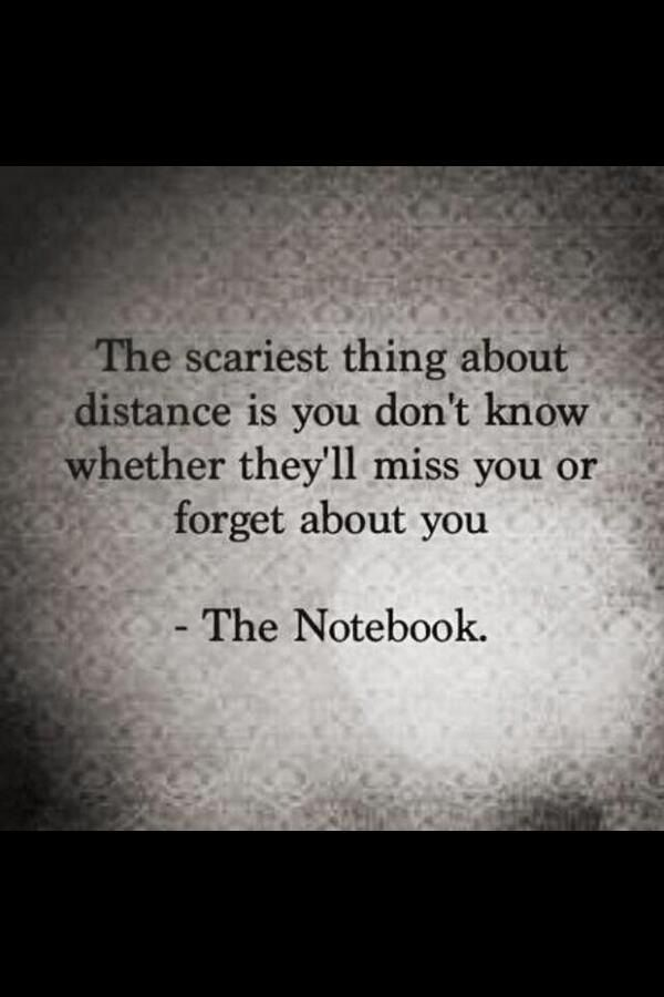 The scary thing about distance