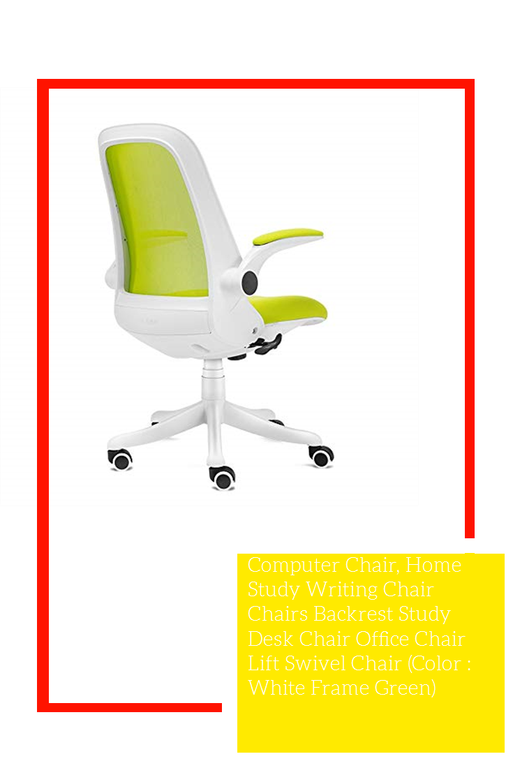Computer Chair Home Study Writing Chair Chairs Backrest Study Desk Chair Office Chair Lift Swivel Chair Color White Frame Green In 2020