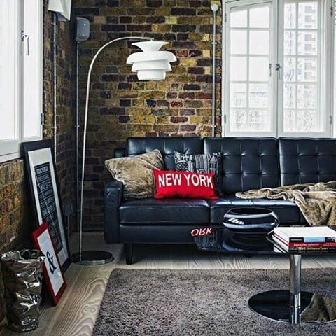 Mens Loft Bachelor Pad Living Room Ideas