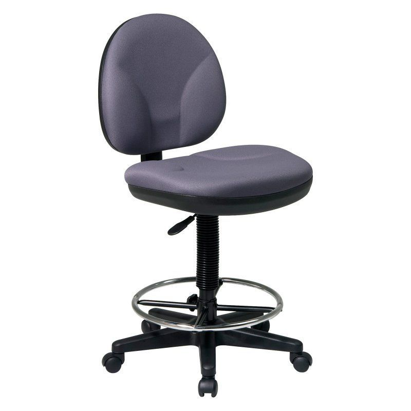 Office Star Work Smart Sculptured Seat and Back Drafting Chair with Adjustable  Foot Ring   DC550Office Star Work Smart Sculptured Seat and Back Drafting Chair  . Office Star Height Adjustable Drafting Chair With Footring. Home Design Ideas