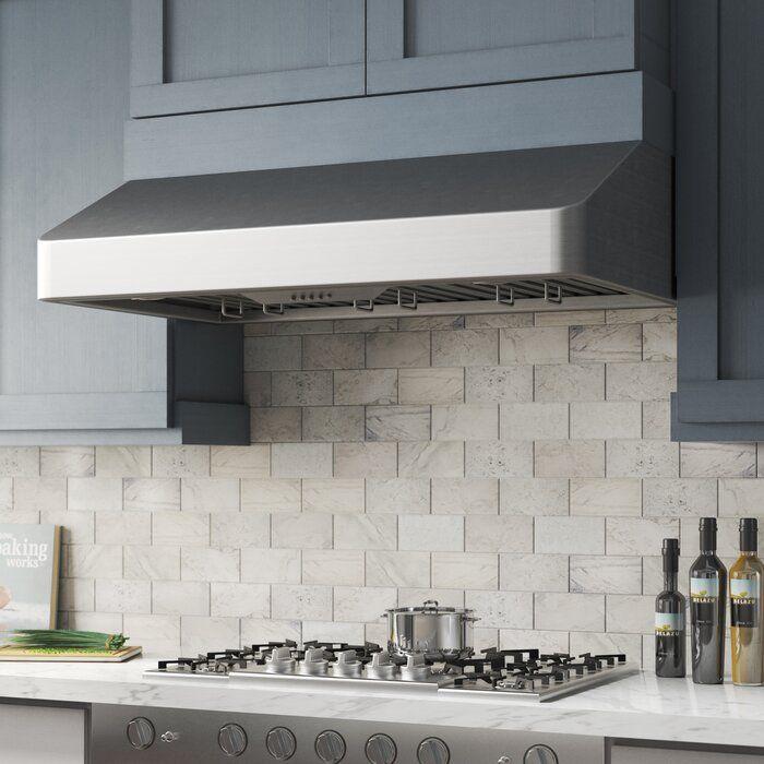 Cosmo 36 500 Cfm Ducted Under Cabinet Range Hood In Stainless Steel In 2021 Under Cabinet Range Hoods Farmhouse Kitchen Backsplash Kitchen Backsplash Designs