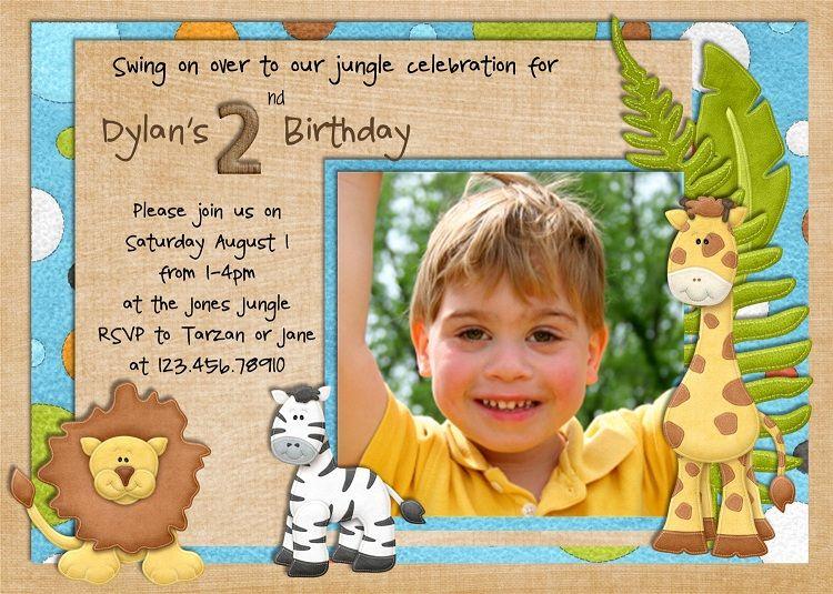 Jungle Birthday Invitation Wording