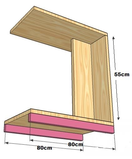 Mesa rodante para la cama o el sillon comer o notebook for Bar rodante de madera
