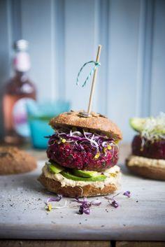 Mega Beetroot Burgers | DonalSkehan.com, My favourite burger recipe.
