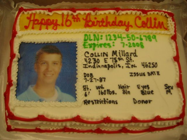 Driver S License Sweet 16 Birthday Cake Lindsey Would Love