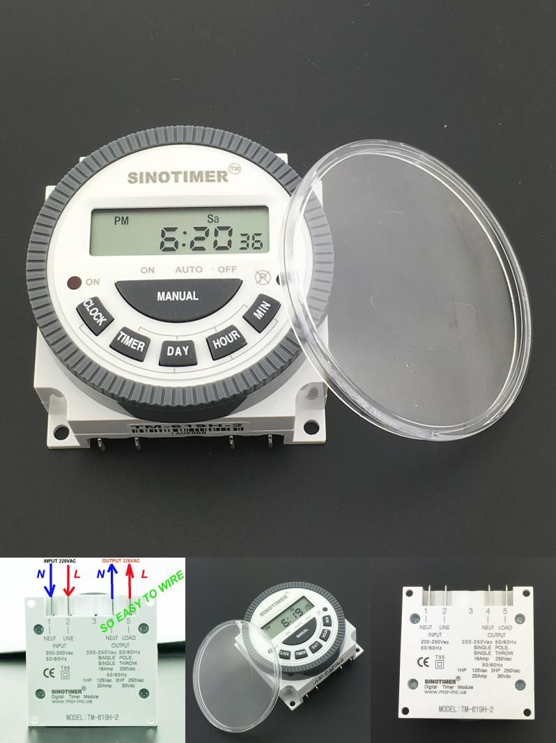 Visit To Buy Multipurpose Tm619 220v Digital Timer Switch With 220 Vac Wiring Waterproof Cover Output