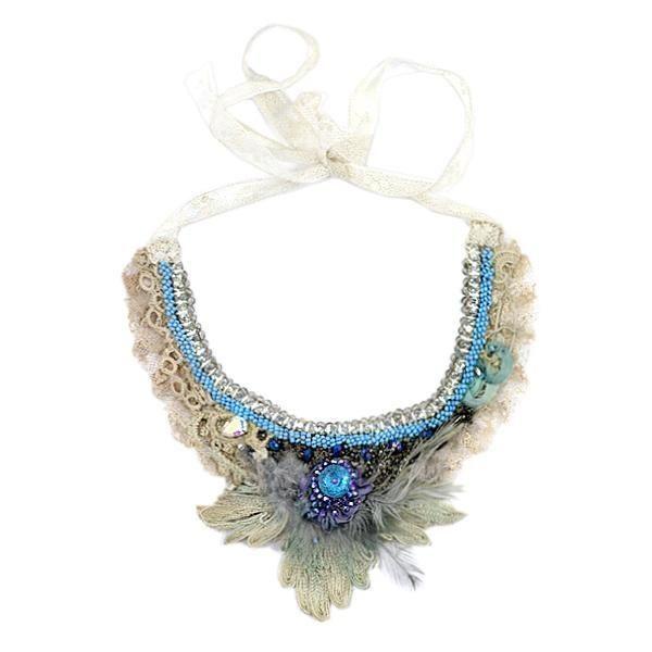 Krista R - Paloma, antique lace necklace
