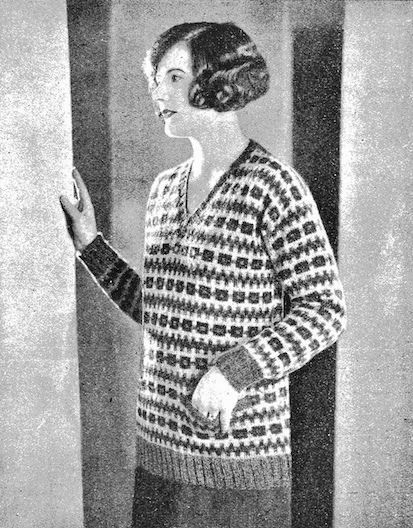 Ladies' Colorful 1920s Sweaters and Cardigans History ...
