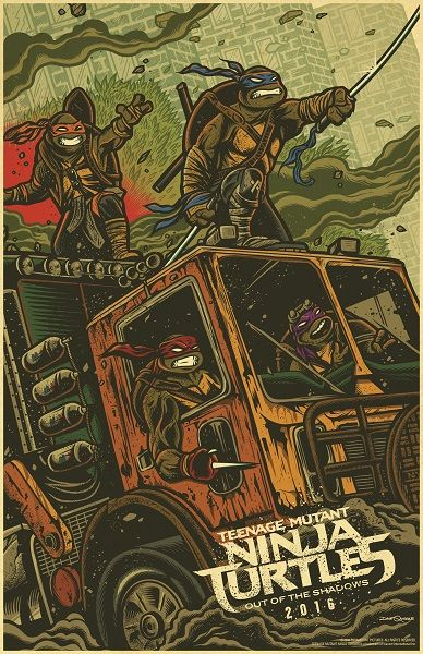 A couple of new movie posters have been released by the folks at Paramount Pictures to promote the new TMNT movie; Teenage Mutant Ninja Turtles: Out of the Shadows.