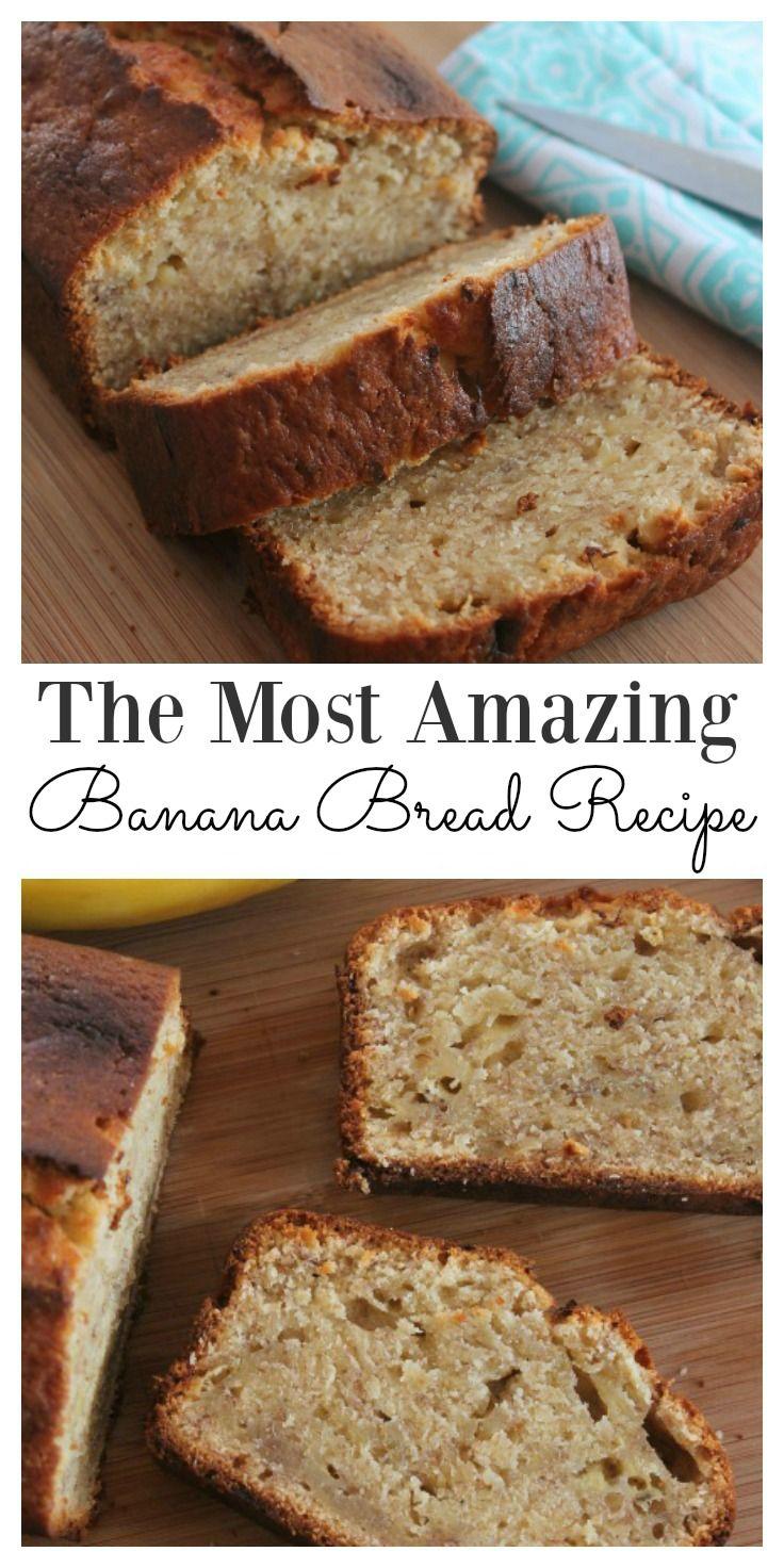 The Most Amazing Banana Bread Recipe Easy Banana Bread Recipe Easy Banana Bread Moist Banana Bread