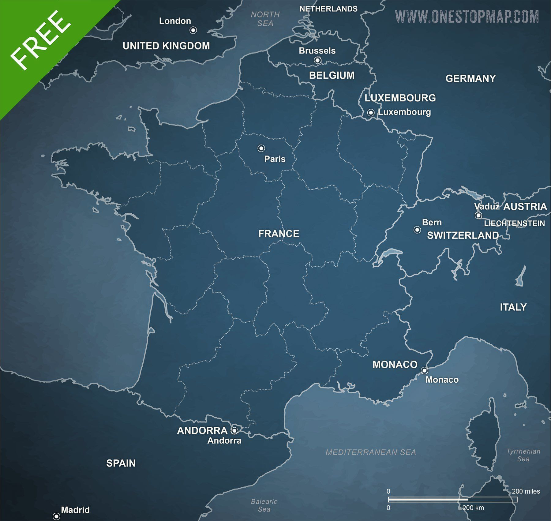Free vector map of france political sci fi adobe illustrator and free vector map of france printable and editable adobe illustrator ai eps gumiabroncs Images