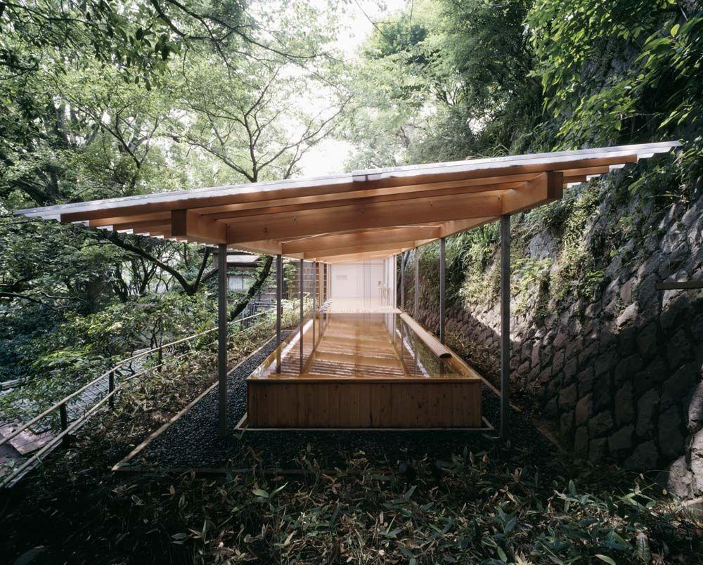 Horai Onsen Bath House 蓬莱 古々比の瀧 隈研吾 都市設計 建築