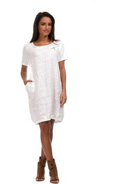 Linen Couleur Lin Laura Dress White | nice linen Dresses | Pinterest