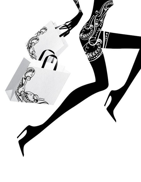 Fashion illustrations by Eli Maier & Alexandra Zaharova , via Behance