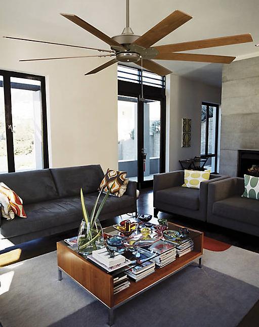 Fanimation Fans Ffp7910bn Levon Oversize Fan 60 And Larger Ceiling Fan Living Room Grey Grey Walls Living Room Blue Living Room