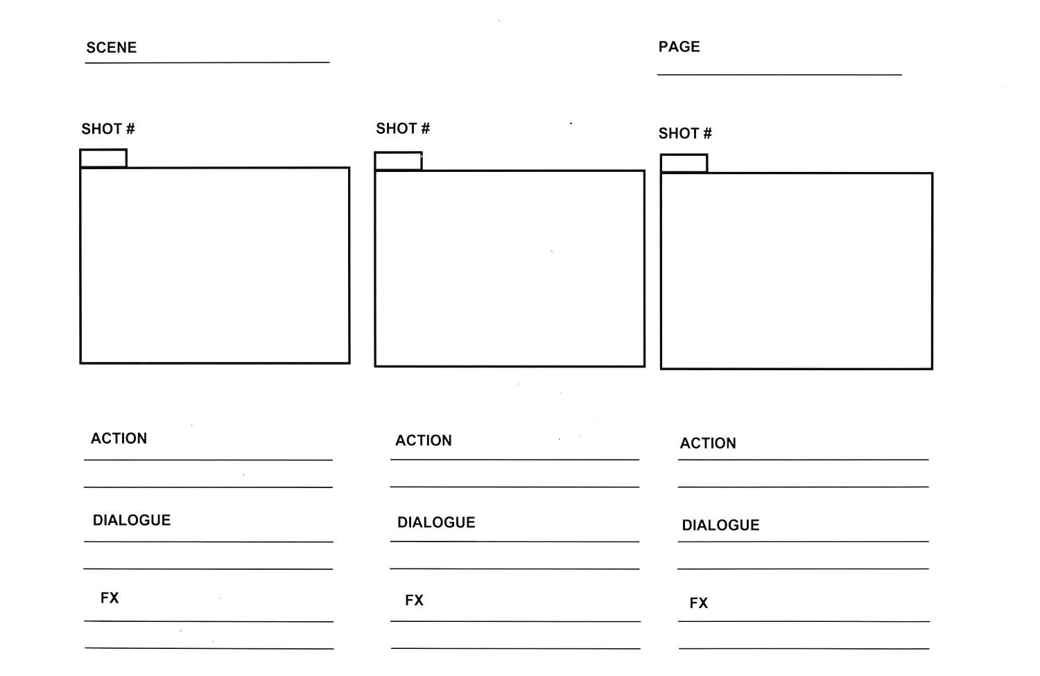 Storyboard Template 3 Boxes