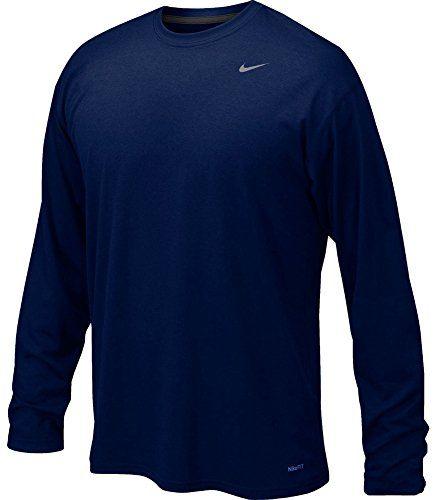 dcf0b0ba Nike 384408 Legend Dri-Fit Long Sleeve Tee - Navy, Medium Nike http: