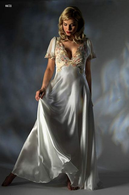 long white nightgowns on pinterest   bridal long nightgown by asian ...