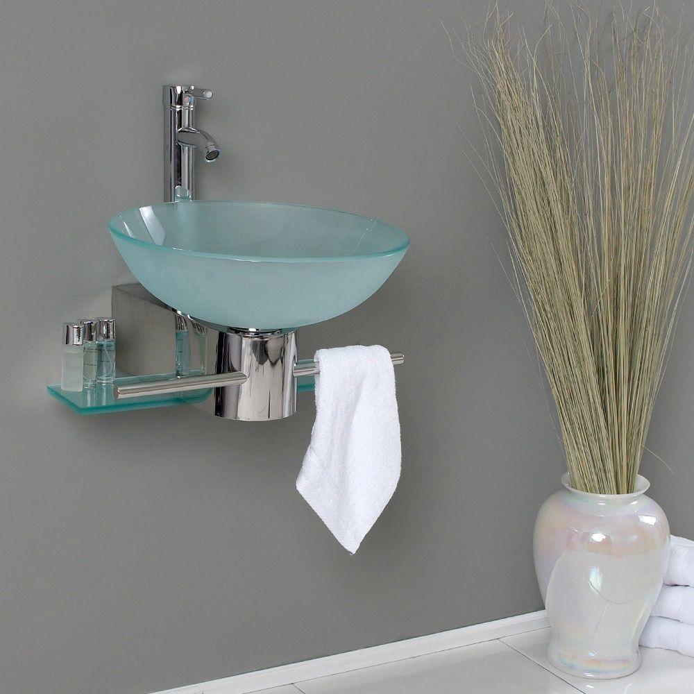Fresca Cristallino Glass Bathroom Vanity Silver Size Single Vanities Wall Mounted Bathroom Sinks Modern Bathroom Vanity Glass Bathroom