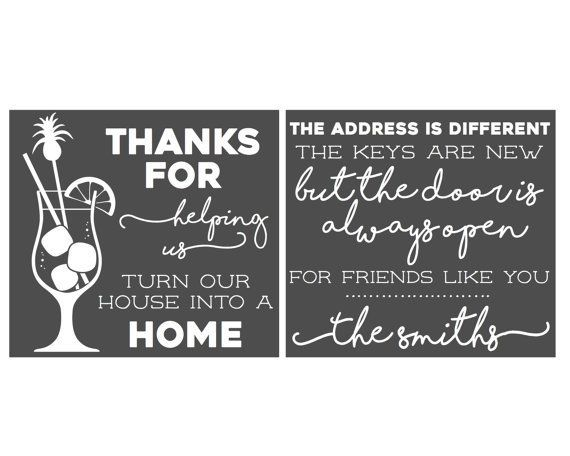 Thank You House: Thank You House Warming Party Ideas