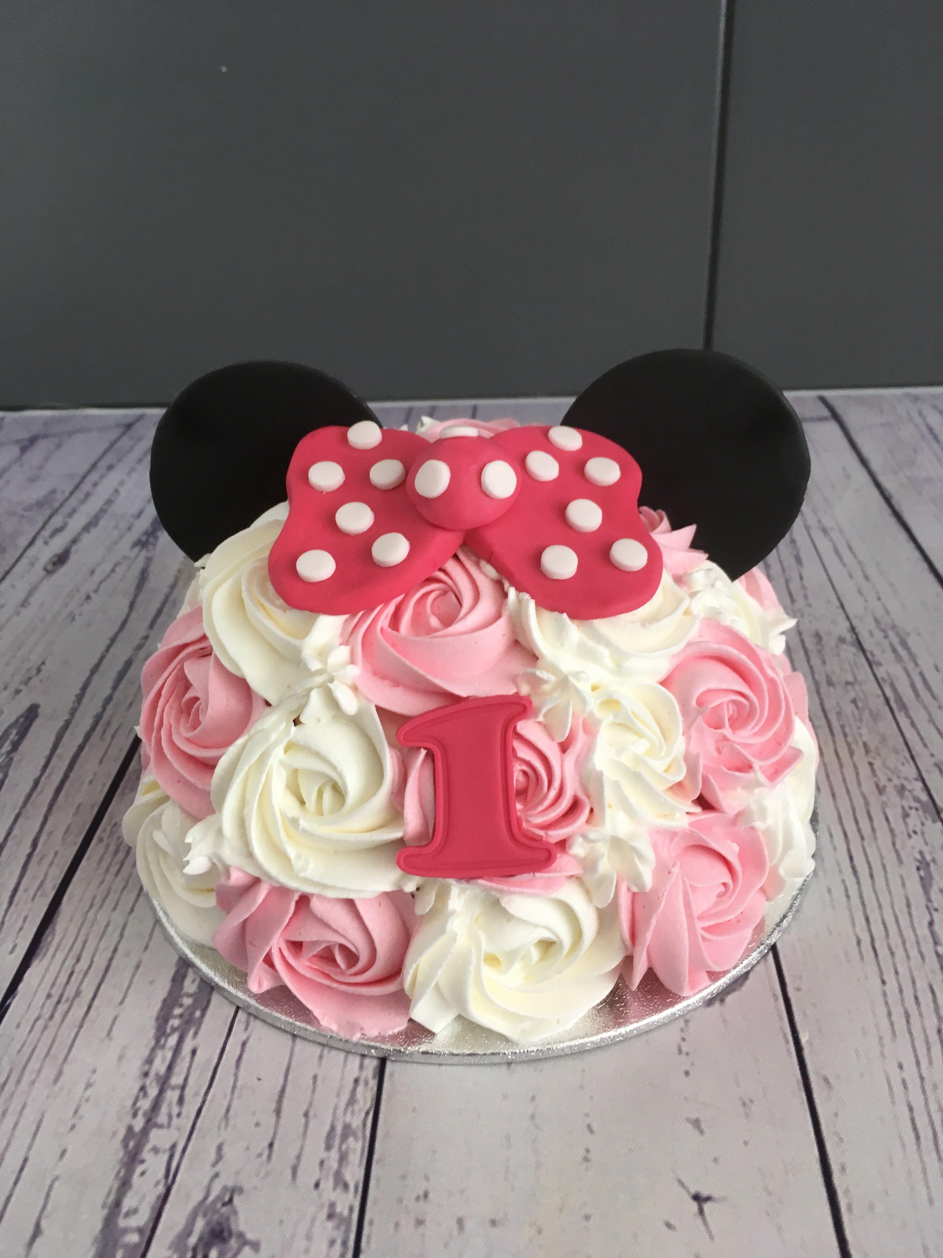 Minnie Mouse Smash Cake Minnie Mouse Cake Mickey Mouse Cake Cake Smash