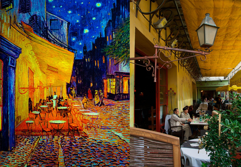 Terraza De Cafe Por La Noche De Vincent Van Gogh Arles Francia Arte Casa Van Gogh Arles Pinturas Para Dormitorios