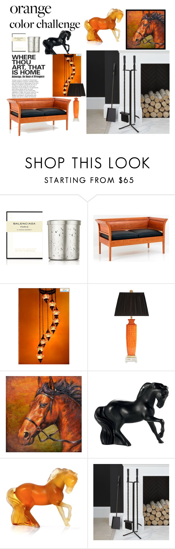 """""""Equestrian"""" by bijouxinedit on Polyvore featuring interior, interiors, interior design, home, home decor, interior decorating, Balenciaga, Thos. Moser, Chelsea House and Yosemite Home Décor"""