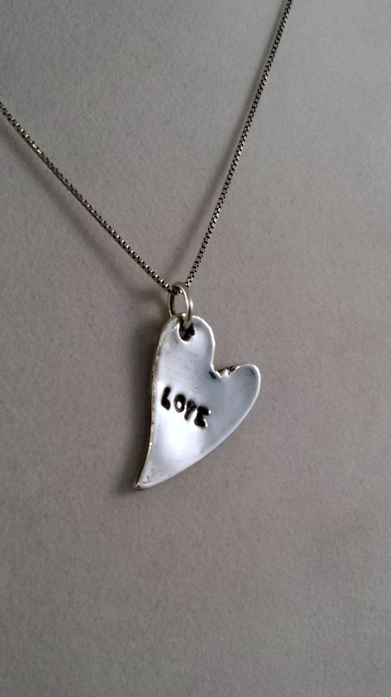 Silver Heart Pendant  Recycled Silver Pendant by ElementalSilver1, $45.00