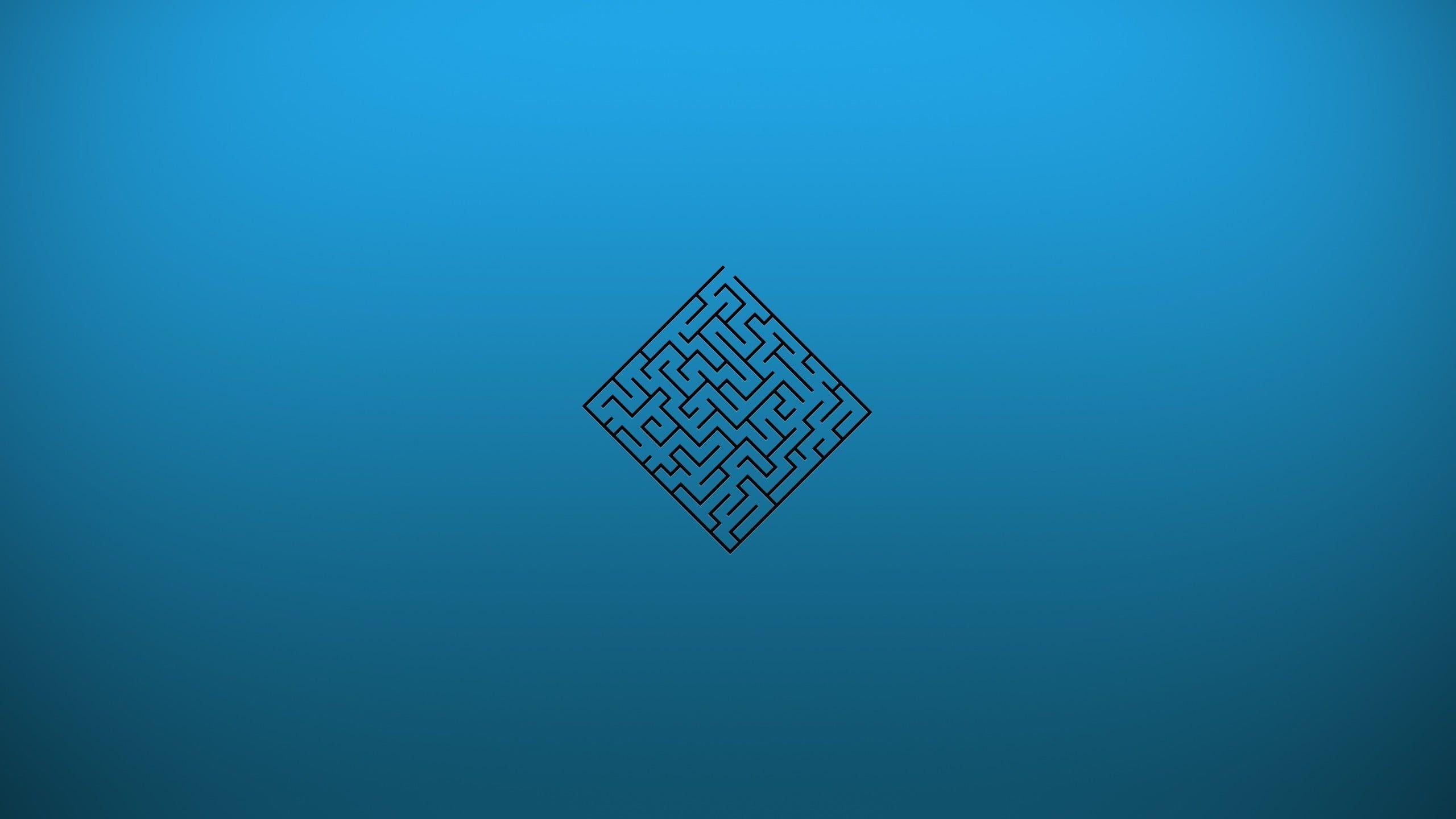 Cube Maze Illustration Maze Artwork Blue Background 2k Wallpaper Hdwallpaper Desktop Illustration Desktop Blu Iphone 8 plus 4k maze wallpaper
