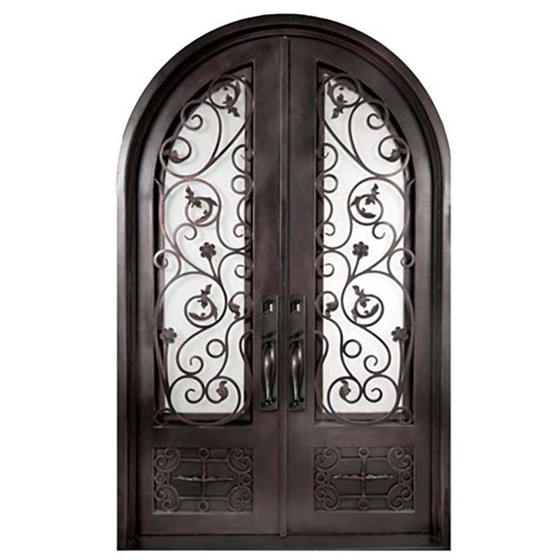 Beautiful Front Entrances Arched Wrought Iron Security Door