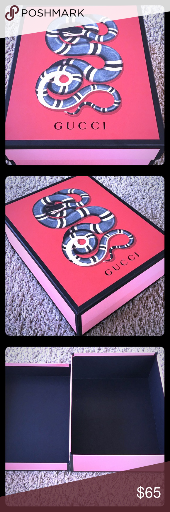 62125e4b98a Gucci New Collection Snake Pink   Red Box Gucci New Collection Snake Pink    Red Empty Shoe  Gift Box - 12x11x4.25 - This box was for shoes .